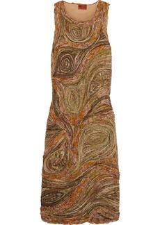 Missoni Asymmetric crochet-knit-trimmed bouclé dress