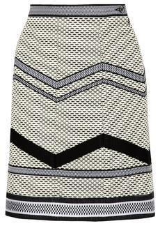 Missoni Basketweave cotton-blend A-line skirt