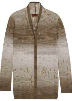 Missoni Burnout-effect knitted cardigan
