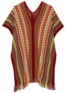 Missoni Chevron-knit wool-blend poncho