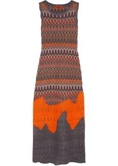 Missoni Crochet-knit and felt dress