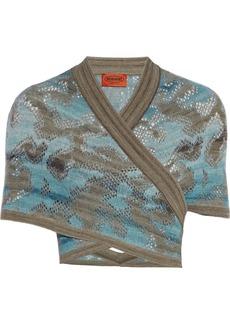 Missoni Crochet-knit shrug