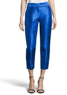 Missoni Cropped Dupioni Ankle Pants, Bright Cobalt