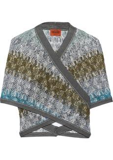 Missoni Crotchet-knit wrap cardigan