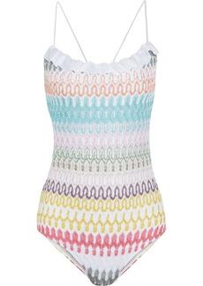 Missoni Diamantino Rilievo crochet-knit swimsuit