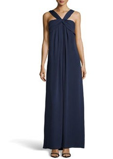 Missoni Gathered Georgette Gown, Navy