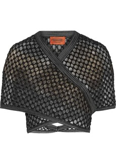 Missoni Honeycomb-knit shrug
