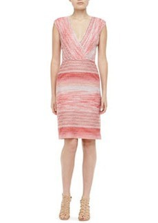 Missoni Knit Surplice Dress, Coral