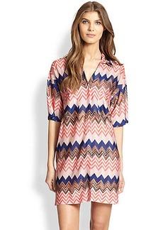 Missoni Mare Chevron-Print Shirt Dress