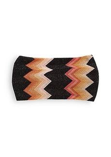 Missoni Mare Metallic Zigzag Knit Headband