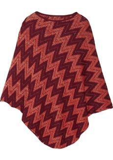 Missoni Metallic chevron-knit wool-blend poncho