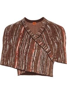 Missoni Metallic crochet-knit shrug