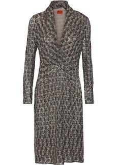 Missoni Metallic crotchet-knit dress