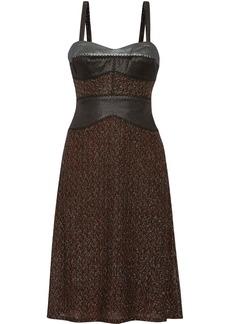 Missoni Metallic jacquard-paneled crochet-knit dress