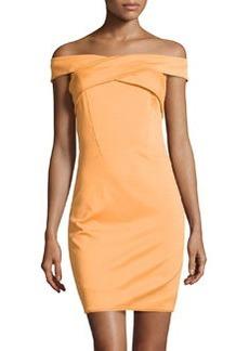 Missoni Off-The-Shoulder Crisscross Ponte Dress, Apricot