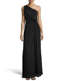 Missoni One-Shoulder Crepe Evening Gown, Black