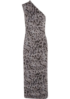Missoni One-shouldered jacquard-knit maxi dress