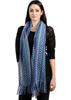 Missoni Open weave mulicolor pattern scarf