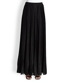 Missoni Pleated Metallic Maxi Skirt
