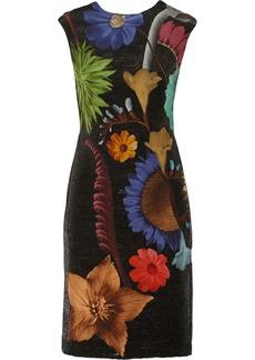 Missoni Sequin-embellished printed silk-chiffon dress