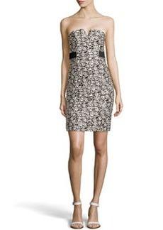 Missoni Strapless Floral Jacquard Dress, Black/Chalk