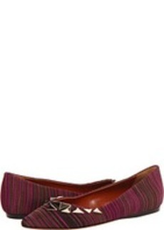 Missoni Stripe Pattern Pointed Flat with Studs