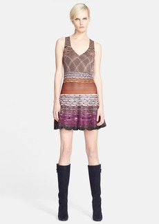 Missoni Wavy Knit Fit & Flare Dress