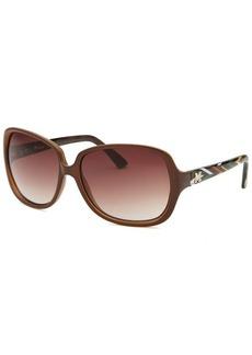 Missoni Women's Brown Square Sunglasses Multi-Color Arms