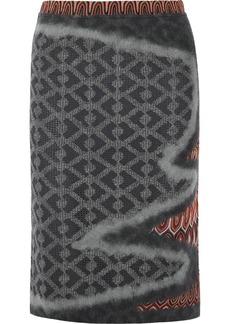 Missoni Wool-blend crochet-knit and felt skirt