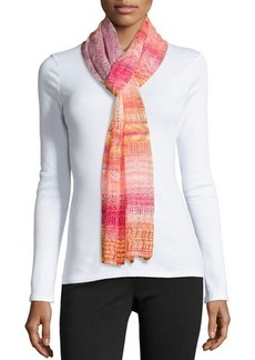 Missoni Zigzag Pointelle Knit Scarf, Pink Multi