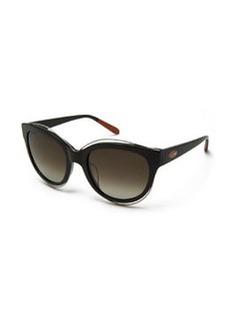 Rounded Cat-Eye Sunglasses, Black   Rounded Cat-Eye Sunglasses, Black