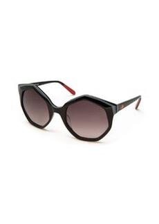 Seven-Sided Butterfly Sunglasses, Black   Seven-Sided Butterfly Sunglasses, Black