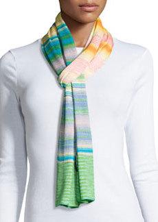 Striped Knit Scarf, Multicolor   Striped Knit Scarf, Multicolor