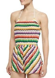 Tuta Honeycomb Zigzag-Knit Jumpsuit   Tuta Honeycomb Zigzag-Knit Jumpsuit