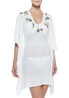 Zigzag-Pattern Embroidered Coverup   Zigzag-Pattern Embroidered Coverup