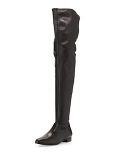 Leather Over-the-Knee Boot, Nero   Leather Over-the-Knee Boot, Nero
