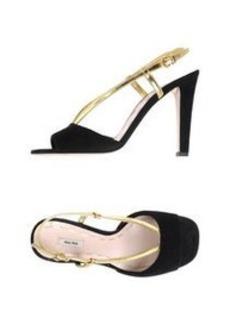 MIU MIU - Sandals