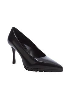 Miu Miu black leather lug sole pumps