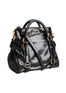 Miu Miu black leather slouchy crossbody bag