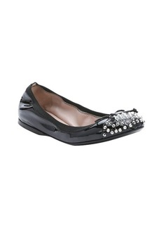 Miu Miu black patent leather packable ballerina flats