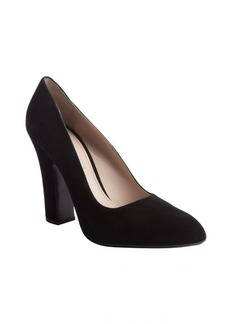 Miu Miu black suede pointed toe pumps