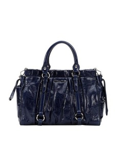 Miu Miu bluette pleated leather convertible bag