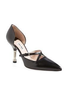 Miu Miu Bolt Heel d'Orsay Pump (Women)