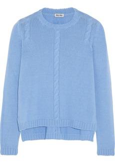 Miu Miu Cable-knit cashmere sweater