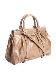 Miu Miu cameo pleated leather convertible bag