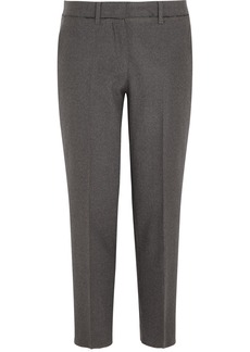 Miu Miu Cropped stretch-wool felt straight-leg pants