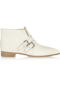 Miu Miu Double-strap leather ankle boots