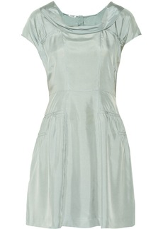 Miu Miu Draped silk crepe de chine dress