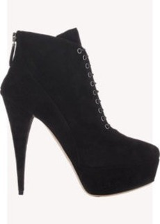 Miu Miu Lace-Up Platform Ankle Boots