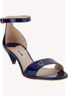 Miu Miu Patent Ankle-Strap Sandals